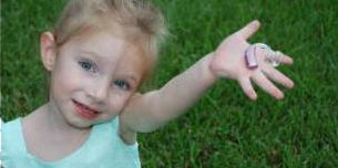 Child with hand out