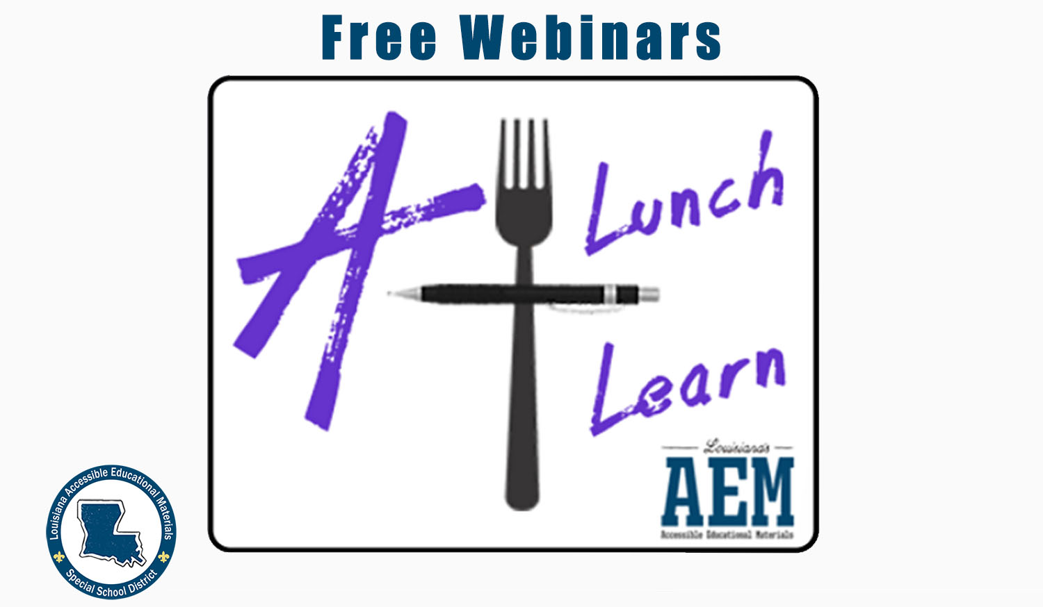 Click to access the free webinar schedule via eventbrite